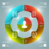 Het Vectormalplaatje van modieuze Infographics. Cirkelsdiagram. Het vectoreps10-Ontwerp van de Conceptenillustratie Stock Fotografie