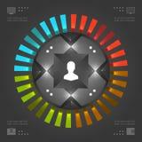 Het Vectormalplaatje van modieuze Infographics. Cirkelsgrafiek. Het vectoreps10-Ontwerp van de Conceptenillustratie Stock Afbeeldingen