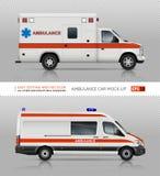 Het vectormodel van ziekenwagenauto's Stock Foto's