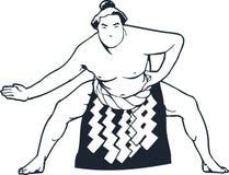 Het Vectorontwerp Clipart van de Sumoworstelaar Stock Fotografie