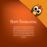 Het vectorontwerp van de dankzeggingskaart met traditioneel Royalty-vrije Stock Afbeelding