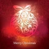 Het vectorontwerp van de Kerstmisprentbriefkaar Royalty-vrije Stock Fotografie