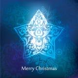Het vectorontwerp van de Kerstmisprentbriefkaar Royalty-vrije Stock Foto's