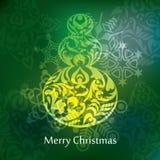 Het vectorontwerp van de Kerstmisprentbriefkaar Royalty-vrije Stock Foto