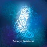 Het vectorontwerp van de Kerstmisprentbriefkaar Stock Foto