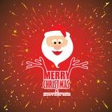 Het vectorontwerp van de vakantiekaart met Santa Claus Stock Afbeeldingen
