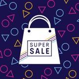 Het vectorontwerp van de verkoopbanner en Abstracte achtergrond Royalty-vrije Stock Afbeelding