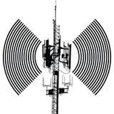Het vectorontwerp van het antenneteken Stock Foto