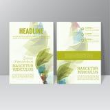 Het vectorontwerp van het brochuremalplaatje Royalty-vrije Stock Afbeeldingen