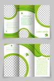 Het vectorontwerp van het brochuremalplaatje met groen element Stock Foto's