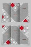 Het vectorontwerp van het brochuremalplaatje met vierkanten Royalty-vrije Stock Foto's
