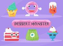 Het Vectorontwerp van het dessertmonster Royalty-vrije Stock Fotografie