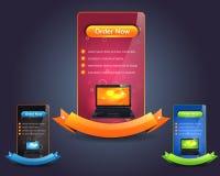 Het VectorOntwerp van het Malplaatje van de Banner van het Web Vector Illustratie
