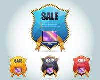 Het VectorOntwerp van het Malplaatje van de Banner van het Web Stock Illustratie