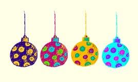 Het vectorontwerp van Kerstmisbal voor nodigt uit Royalty-vrije Stock Afbeelding