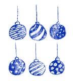 Het vectorontwerp van Kerstmisbal voor nodigt uit Stock Afbeelding
