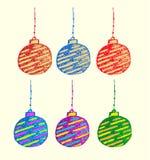 Het vectorontwerp van Kerstmisbal voor nodigt uit Stock Foto's