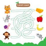 Het vectorontwerp van het labyrintspel royalty-vrije illustratie