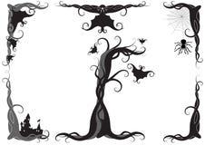 Het vectorornament van Halloween Stock Afbeelding