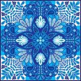 Het vectorpaisley patroon van India, decoratief ornament voor textiel, het verpakken of bandanadecor Het Boheemse ontwerp van de  vector illustratie