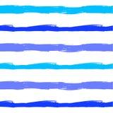 Het vectorpatroon van de Golven Naadloze Zomer, Blauwe Grunge-Borstelslagen vector illustratie