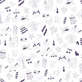Het vectorpatroon van de krabbel naadloze zomer Royalty-vrije Stock Fotografie
