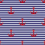 Het vectorpatroon van de tegelzeeman stock illustratie