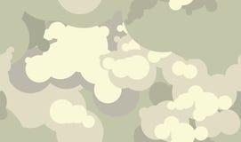 Het vectorpatroon van de wolkenrook De elektronische verstuivers van de sigaretten vape damp Royalty-vrije Stock Foto