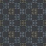 Het Vectorpatroon van Gray Abstract Chequered Grid Seamless royalty-vrije illustratie