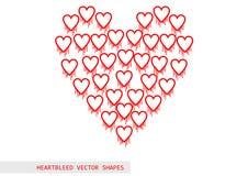 Het vectorpatroon van het Heartbleed openssl insect Stock Fotografie