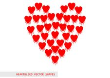 Het vectorpatroon van het Heartbleed openssl insect Stock Afbeeldingen