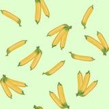 Het vectorpatroon van illustratie naadloze bananen Stock Foto