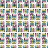 Het Vectorpatroon van Memphis Style Scribble Abstract Seamless vector illustratie