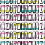 Het Vectorpatroon van Memphis Style Scribble Abstract Seamless, Hand Getrokken Pop-art royalty-vrije illustratie