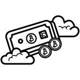 Het vectorpictogram van het Bitcoincontante geld royalty-vrije illustratie