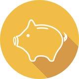 Het vectorpictogram van de Moneyboxlijn het vectorpictogram van het spaarvarken de lijn vectorpictogram van het spaarvarken voor  Royalty-vrije Stock Foto's