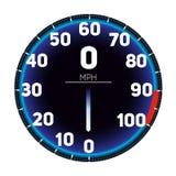 Het vectorpictogram van het de snelheidsmeterdashboard van de Illustratieauto Van de het rastechnologie van de snelheidsmeter sne royalty-vrije illustratie