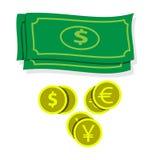 Het vectorpictogram van het beeldgeld Royalty-vrije Stock Foto