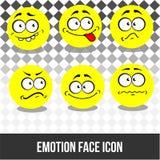 Het vectorpictogram van het emotiegezicht Stock Foto's