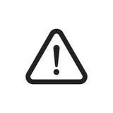 Het vectorpictogram van het gevaarsteken De illustratie van de aandachtsvoorzichtigheid Zaken Stock Afbeeldingen