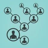 Het vectorpictogram van het mensennetwerk royalty-vrije illustratie