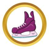 Het vectorpictogram van ijshockeyvleten, beeldverhaalstijl Royalty-vrije Stock Afbeelding