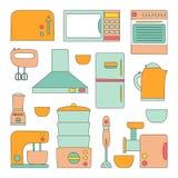 Het vectorpictogram van keukentoestellen Stock Afbeeldingen