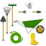Het vectorpictogram van tuinhulpmiddelen Stock Foto