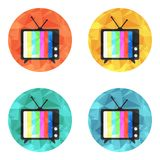 Het vectorpictogram van TV Royalty-vrije Stock Foto's