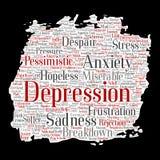 Het vectorprobleem van de depressie geestelijke emotionele wanorde stock illustratie