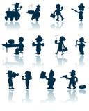 Het vectorsilhouet van beroepen Stock Afbeeldingen