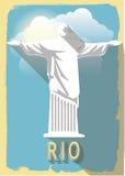 Het vectorstandbeeld van illustratiejesus van Rio DE janeiro Royalty-vrije Illustratie
