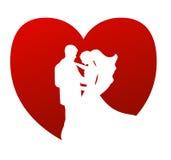 Het vectorsymbool van het huwelijk Stock Fotografie