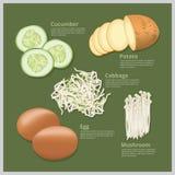 Het vectorvoedsel van het Illustratieingrediënt Royalty-vrije Stock Foto's